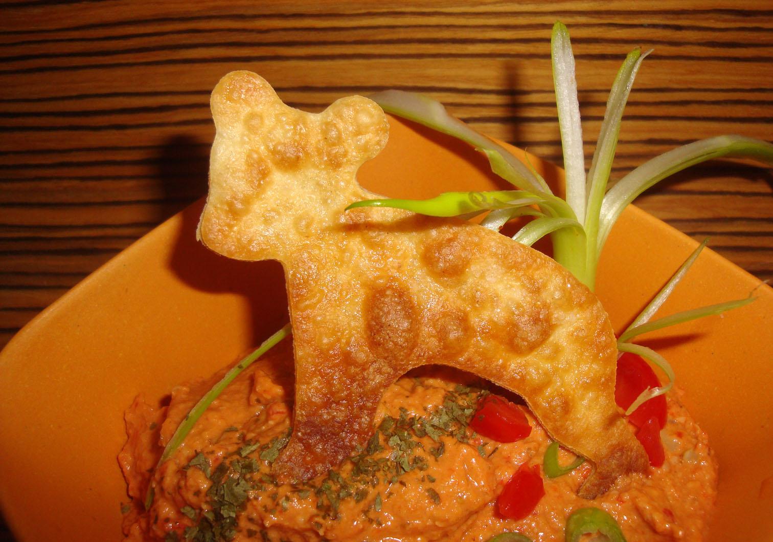 muhammara met taco-beertje