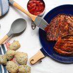 Aubergine in Amerikaanse BBQstijl